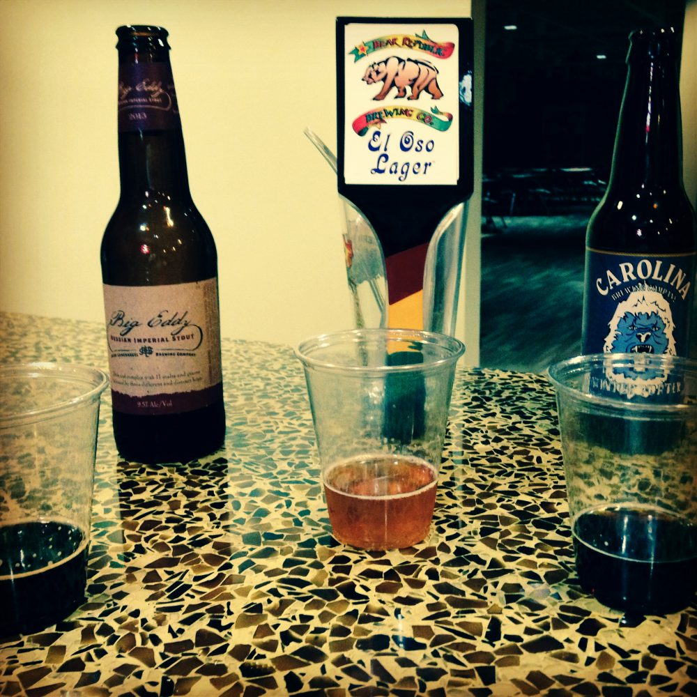 Bear Republic El Oso, Carolina Brewing Company Winter Porter, Leinenkugel Big Eddy